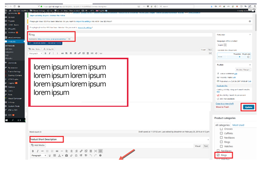 d4c5e5d73cbd Για την εισαγωγή της εικόνας προϊόντος κάνουμε κλικ στο Set Featured Image  και από την καρτέλα Upload Image πατάμε select και επιλέγουμε την εικόνα  που ...
